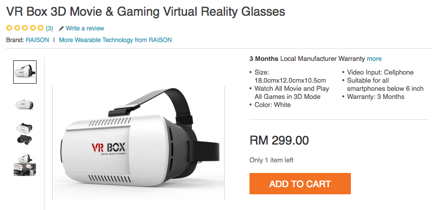 Good thing it was 95% off, now I can see the VR world!